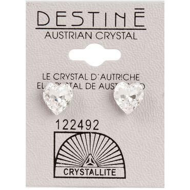 Crystallite Heart-Shaped Ear Studs 8mm