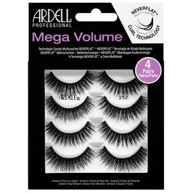 Ardell Mega Volume Strip Lashes 252, Pack of 4