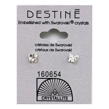 Crystallite Small Butterfly Stud Earrings