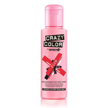 Crazy Color Semi Permanent Hair Colour Cream - Fire 100ml