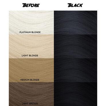 Crazy Color Semi Permanent Hair Colour Cream - Black 100ml