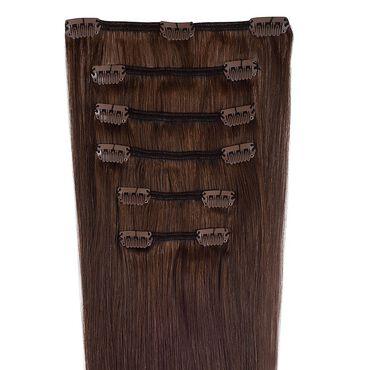 Wildest Dreams Clip In Half Head Human Hair Extension 18 Inch - 4 Mocha Brown