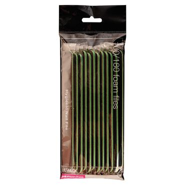 Salon Services Foam Nail File Black 100/180 Grit Pack of 12