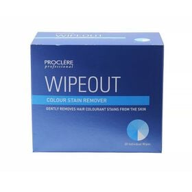Proclere Wipeout Colour Remove Wipes 20 Pack
