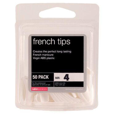 Salon Services French Tips Size 4 Pack of 50