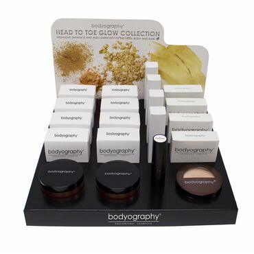 Bodyography Head To Toe Glow Collection Display 16 Piece