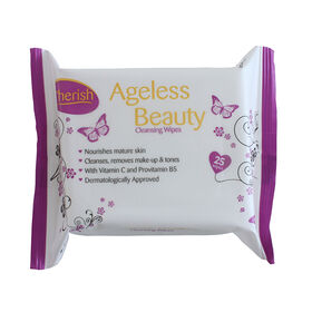Cherish Ageless Cleansing Wipes Pack of 25
