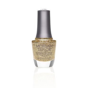 Morgan Taylor Long-lasting, DBP Free Nail Lacquer - Glitter And Gold 15ml