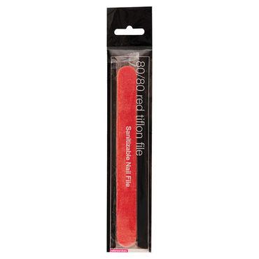 Salon Services Tiflon Nail File Red 80 Grit Single