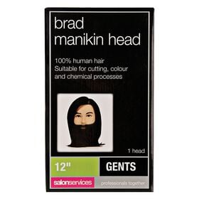 Salon Services Brad Manikin Head with Beard 12 Inch