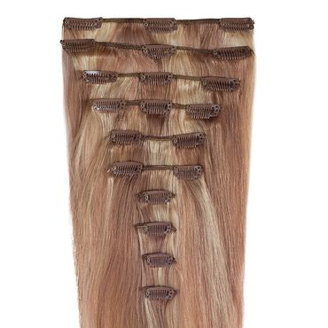 "Wildest Dreams Clip In Full Head Human Hair Extension 22"" - 10/22 Brown Blonde"