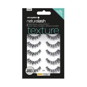 Naturalash 117 Texture Wispy Strip Lashes, Black, Multi Pack