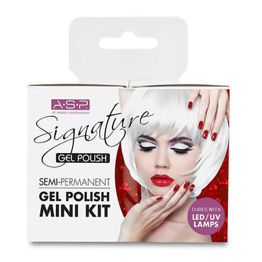 ASP Signature Gel Polish Mini Kit, Vamp Red