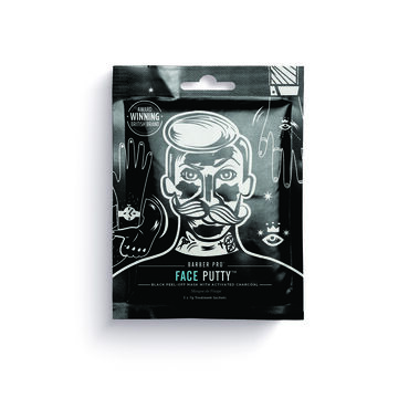 Barber Pro Face Putty Black Peel-Off Mask 3x7g
