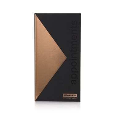 Salon Services Appointment Book - Black & Rose Gold