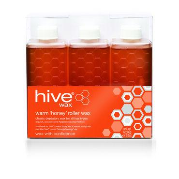 Hive of Beauty Roller Depilatory Wax Refills Warm Pack of Six 80g