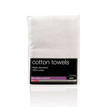 Salon Services Non Bleach Resistant Towel White Pack of 12