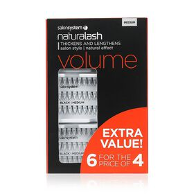 Salon Systems Naturalash Volume Individual Lash Black Medium