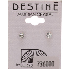 Crystallite Clear Extra Small Ear Studs 4mm