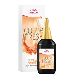 Wella Professionals Colour Fresh Semi Permanent Hair Colour - 7/74 Browns 75ml
