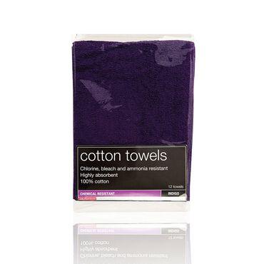 Salon Services Bleach Resistant Towel Indigo Pack of 12