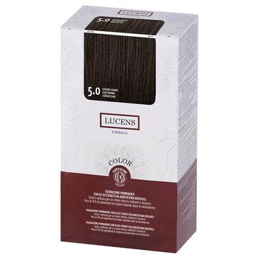 Lucens Permanent Hair Colour Kit 5.0 Light Brown
