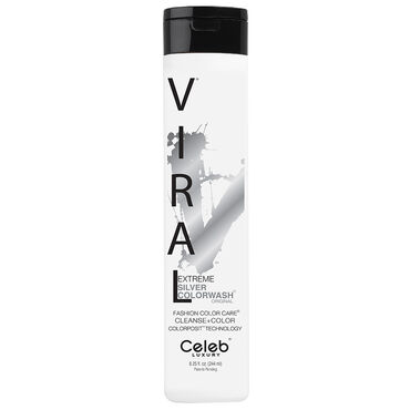 Celeb Luxury Viral Semi Permanent Colorwash Shampoo - Extreme Silver 244ml