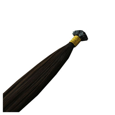 "Beauty Works Mane Attraction 16"" Keratin Bond Flat Tip Hair Extensions  1b Browns 25g"
