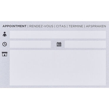 S-PRO Hair Appointment Cards, 1-pack
