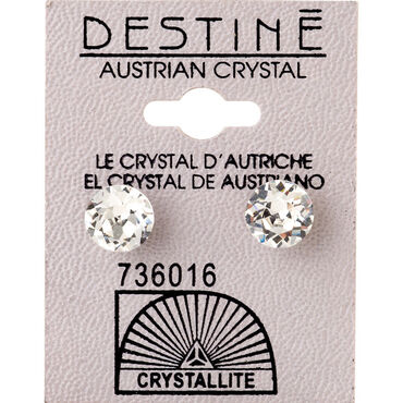 Crystallite Clear Extra-large Ear Studs 8mm