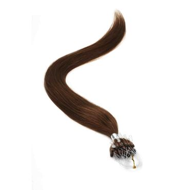 American Pride Micro Ring Human Hair Extension 18 Inch - 4 Mocha Brown