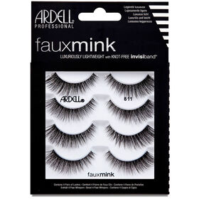 Ardell Faux Mink Strip Lash 811, Pack of 4