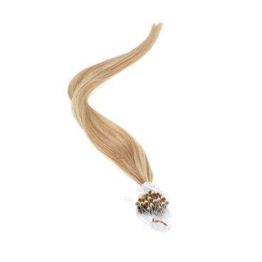 American Pride Micro Ring Human Hair Extension 18 Inch - 18/22 Brown/Blonde