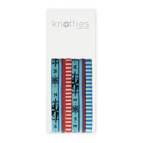Knotties Wide Elastic Hair Ties -- Seafarer 6 Pack