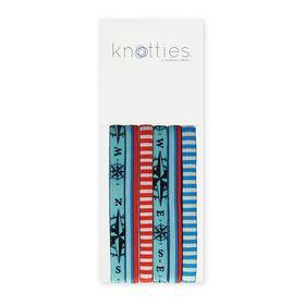 Knotties Wide Elastic Hair Ties -- Seafarer 6 Pack