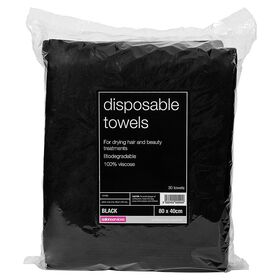 Salon Services Disposable Towels 30 Pack, Black