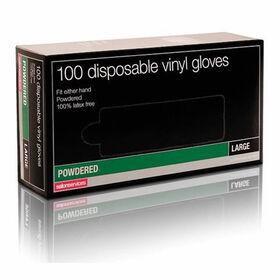 Salon Services Disposable Vinyl Gloves Pack of 100 - Medium