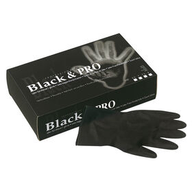 Sibel Black & Pro Latex Gloves Size 7, 10 Pairs