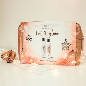 WHITE to BROWN Let it Glow Golden Self Tanning Gift Set