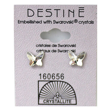 Crystallite Large Butterfly Stud Earrings