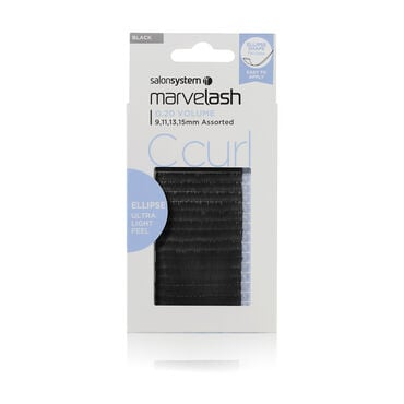Salon System  Marvelash C Curl Lashes 0.20 Volume, Assorted Length, Ellipse  Black Each