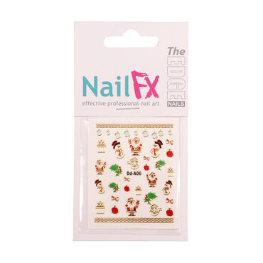 Nail FX Foil Nail Stickers - Deck the Halls