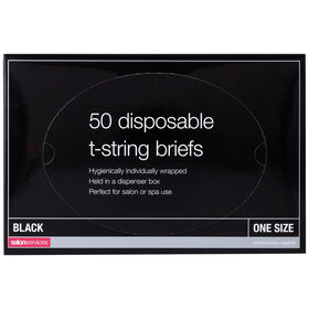 Salon Services Disposable T-String Briefs Pack of 50
