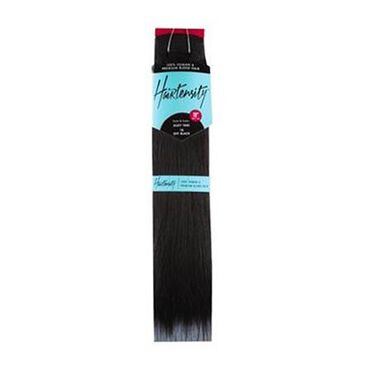 Hairtensity Weft Full Head Synthetic Hair Extension 18 Inch - 1B Off Black