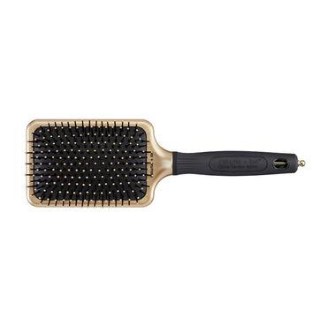 Olivia Garden Ceramic Ion Black & Gold Paddle Brush, XL Pro, Large