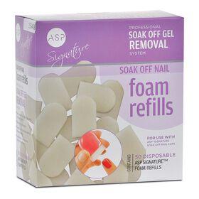 ASP Signature Soak Off Nail Foam Refills 50 Pack