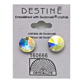 Crystallite Rivoli Stud Earrings, 11mm