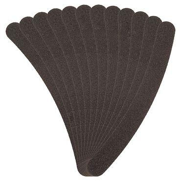 Salon Services Boomerang Nail File Black 100/180 Grit Pack of 12