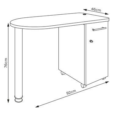 REM Stadium Nail Station - White