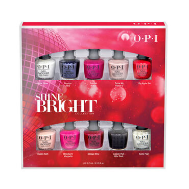 OPI Shine Bright Christmas Collection Mini Nail Lacquers, 10 Pack